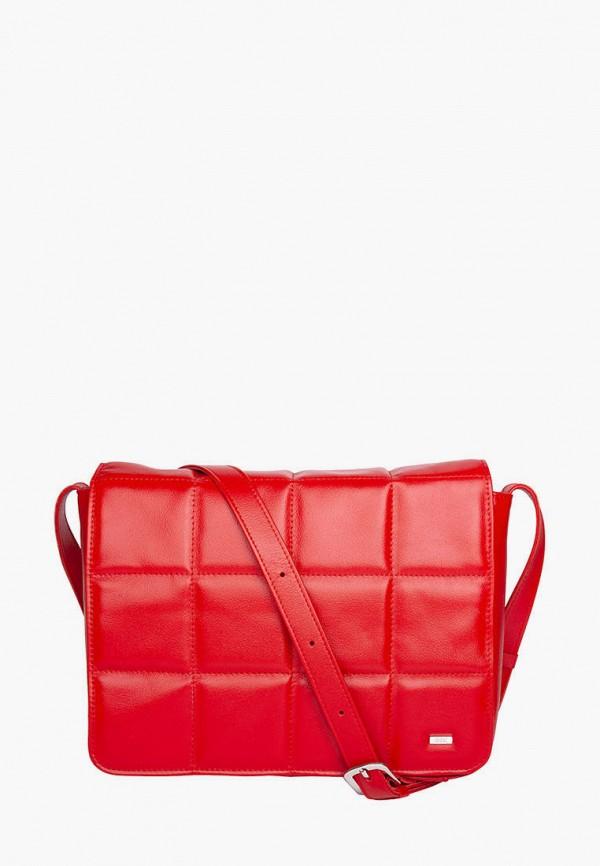 женская сумка через плечо esse, красная