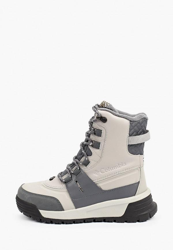 женские высокие ботинки columbia, серые