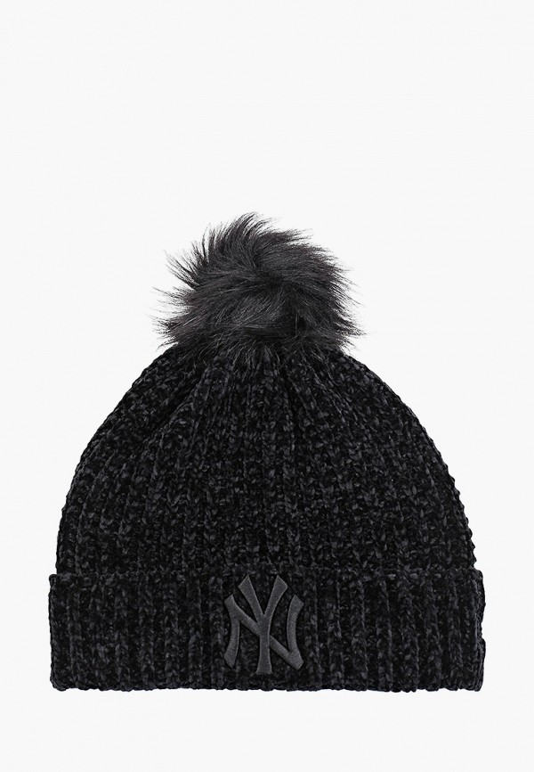 женская шапка new era, черная