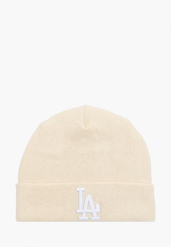 женская шапка new era, бежевая
