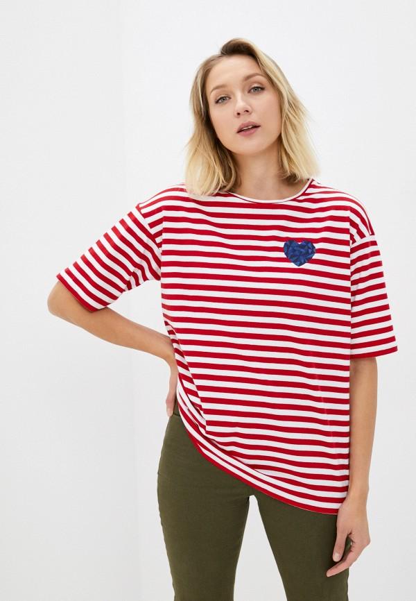 женская футболка берегите птиц, красная