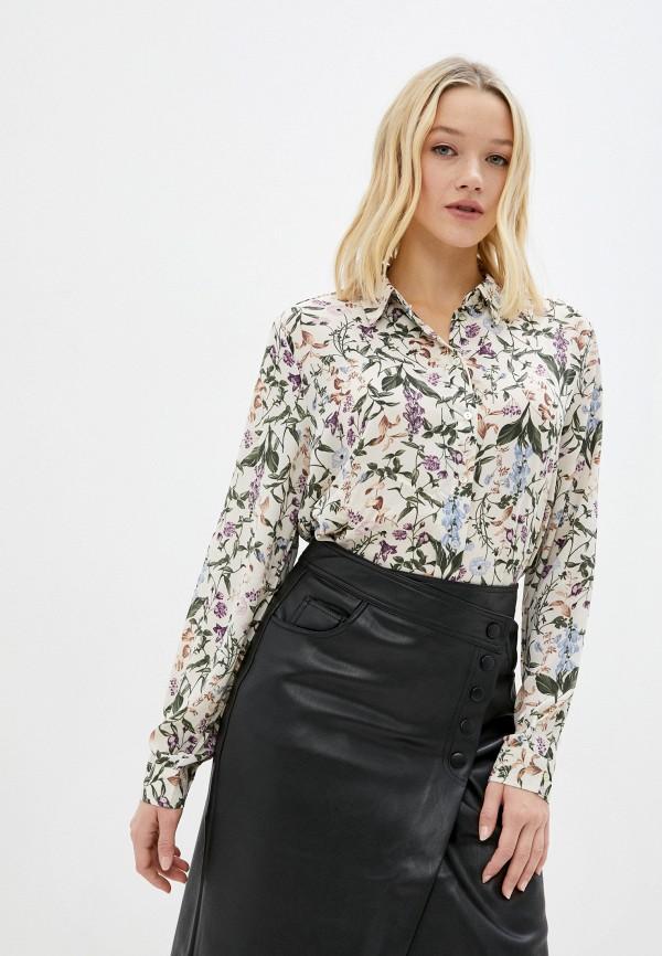женская блузка с длинным рукавом zolla, бежевая