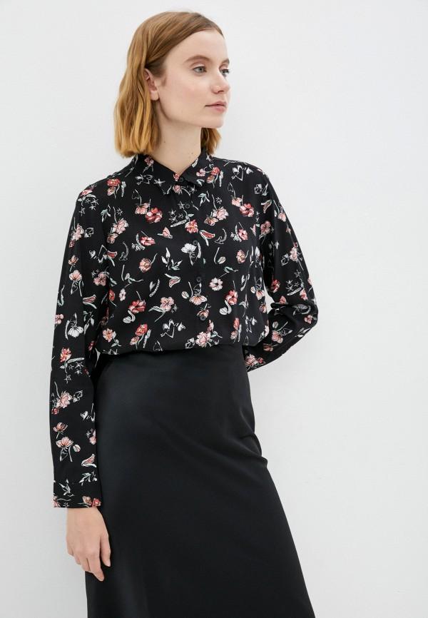 женская блузка с длинным рукавом zolla, черная