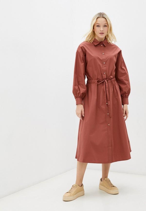 женское платье-рубашки zolla, коричневое