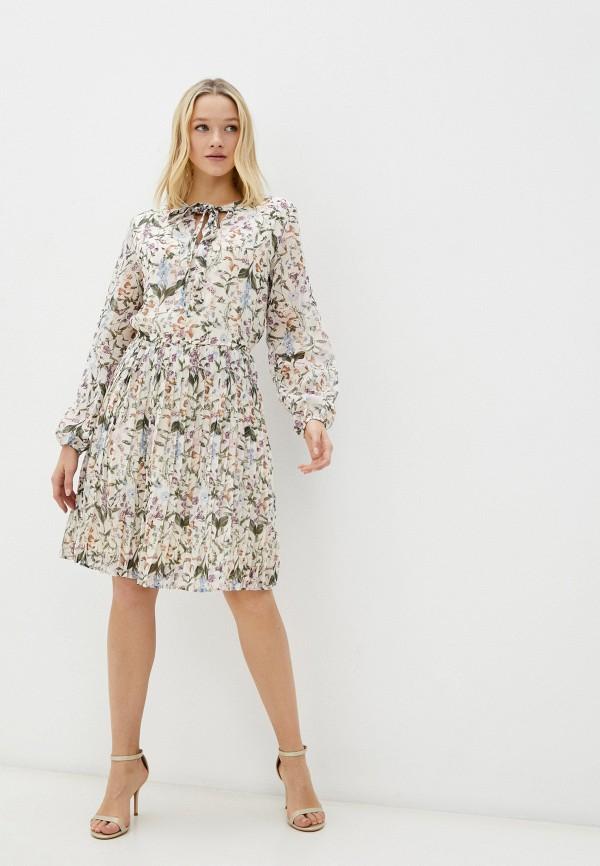 женское повседневные платье zolla, бежевое