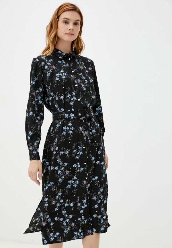 женское платье-рубашки zolla, черное