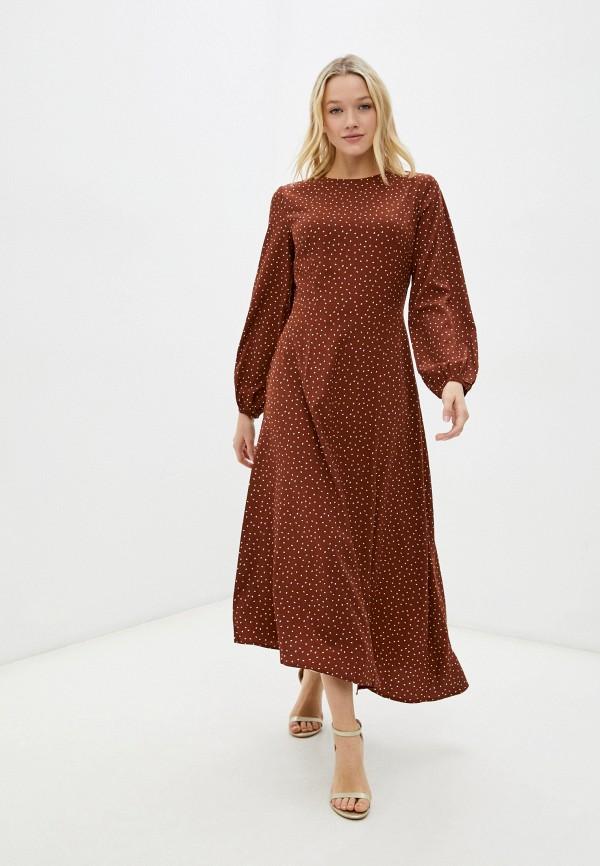 женское повседневные платье zolla, коричневое