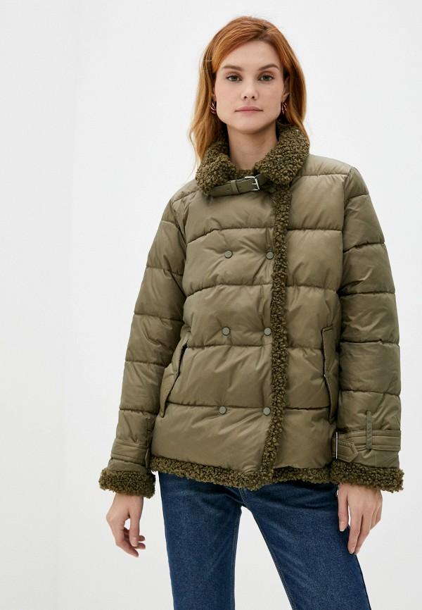 женская утепленные куртка zolla, хаки