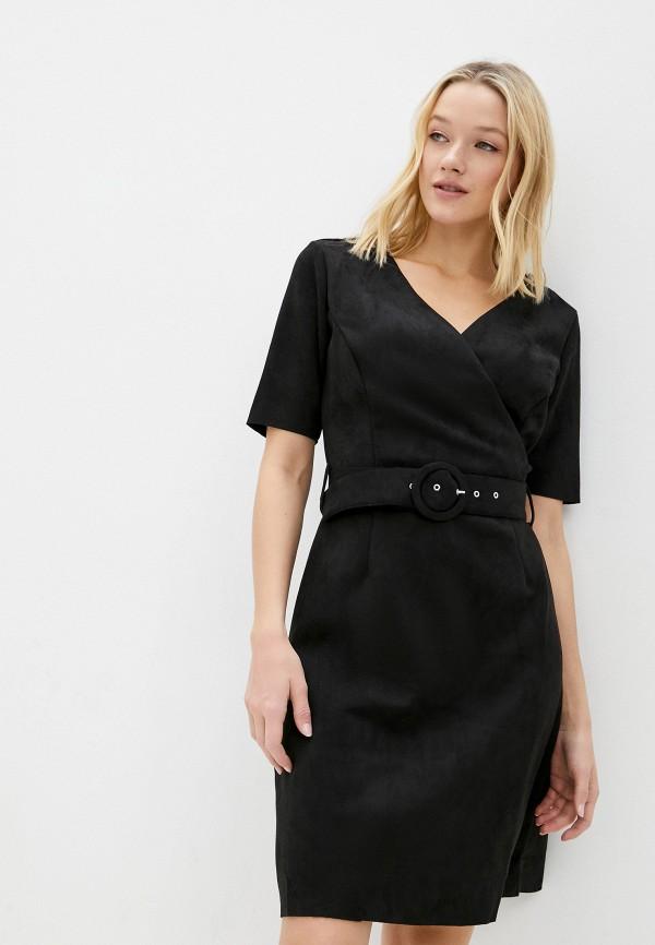 женское платье с запахом zolla, черное