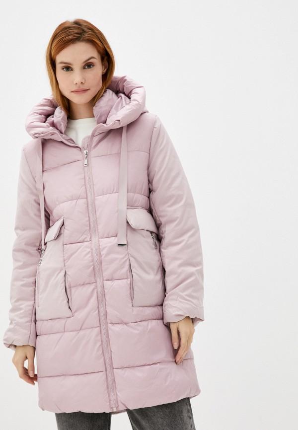 женская утепленные куртка zolla, розовая