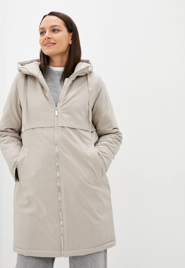 женская утепленные куртка zolla, бежевая