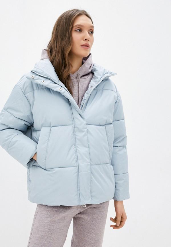 женская утепленные куртка zolla, голубая