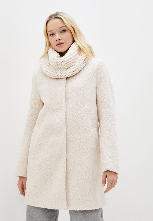 женское пальто zolla, бежевое