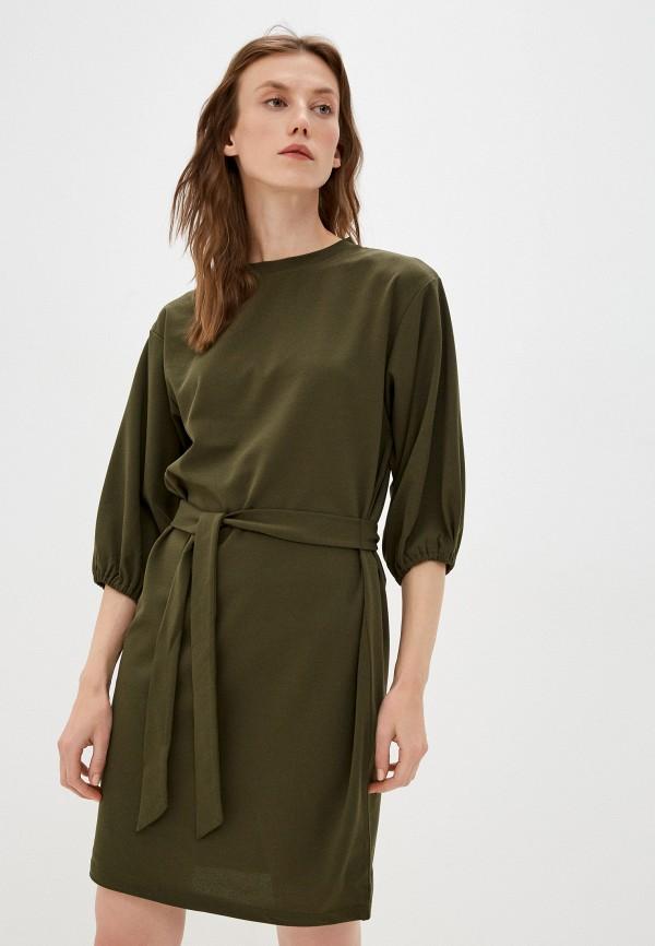 женское платье-футболки zolla, хаки