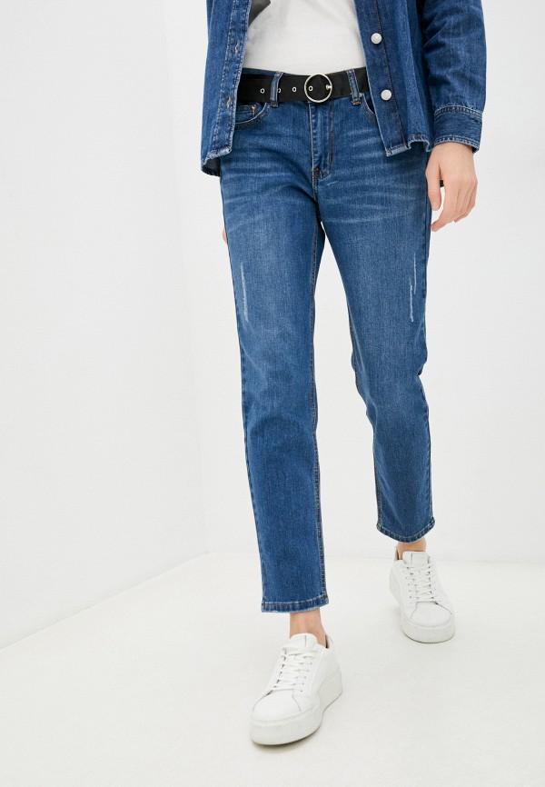 женские джинсы бойфренд zolla, голубые