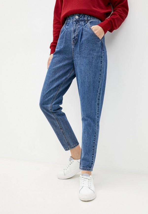 женские джинсы-мом zolla, голубые