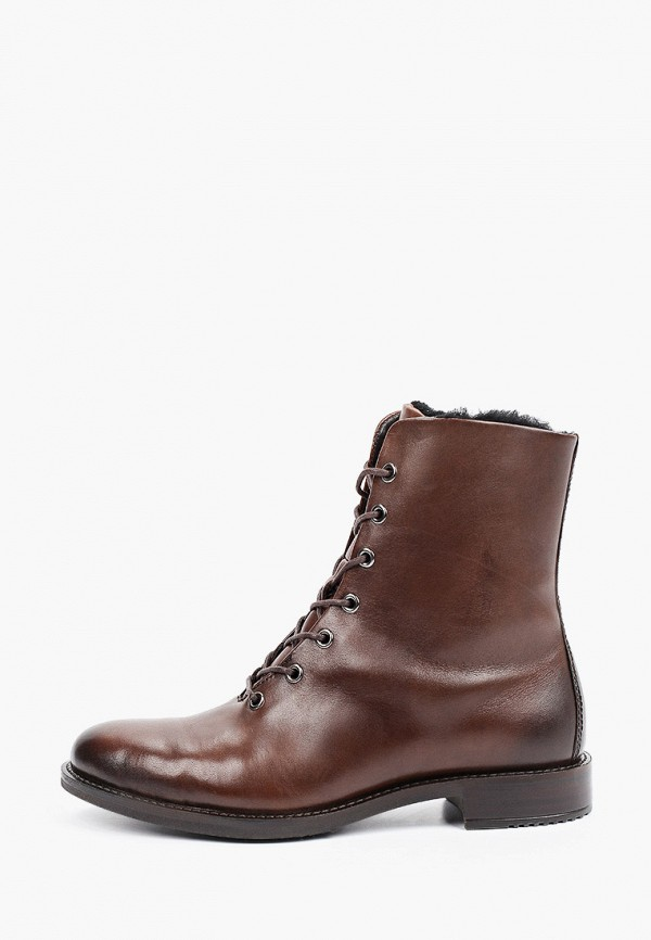 женские высокие ботинки ecco, коричневые