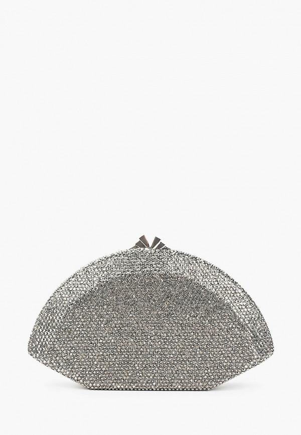 женский клатч vitacci, серебряный