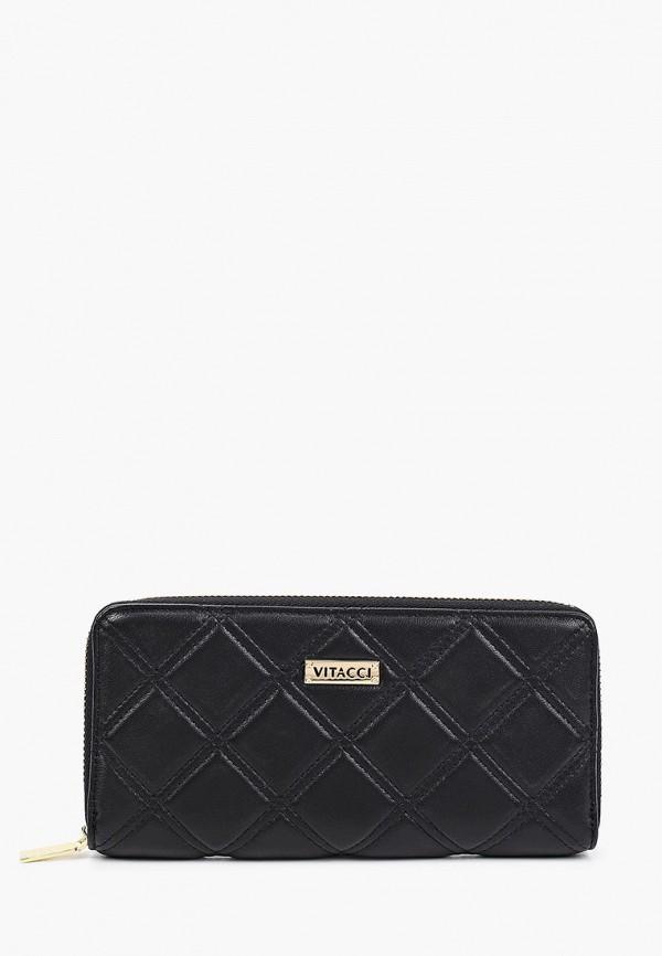 женский кошелёк vitacci, черный