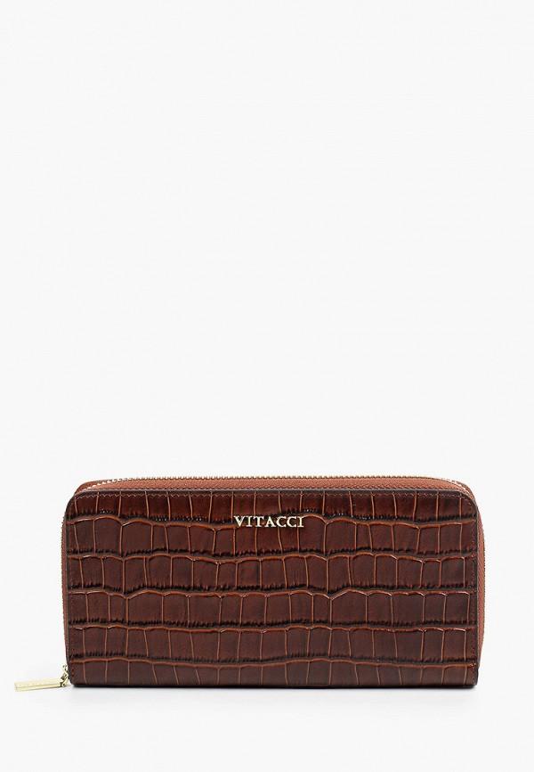 женский кошелёк vitacci, коричневый