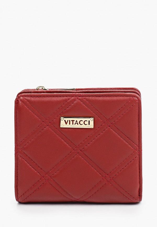 женский кошелёк vitacci, красный