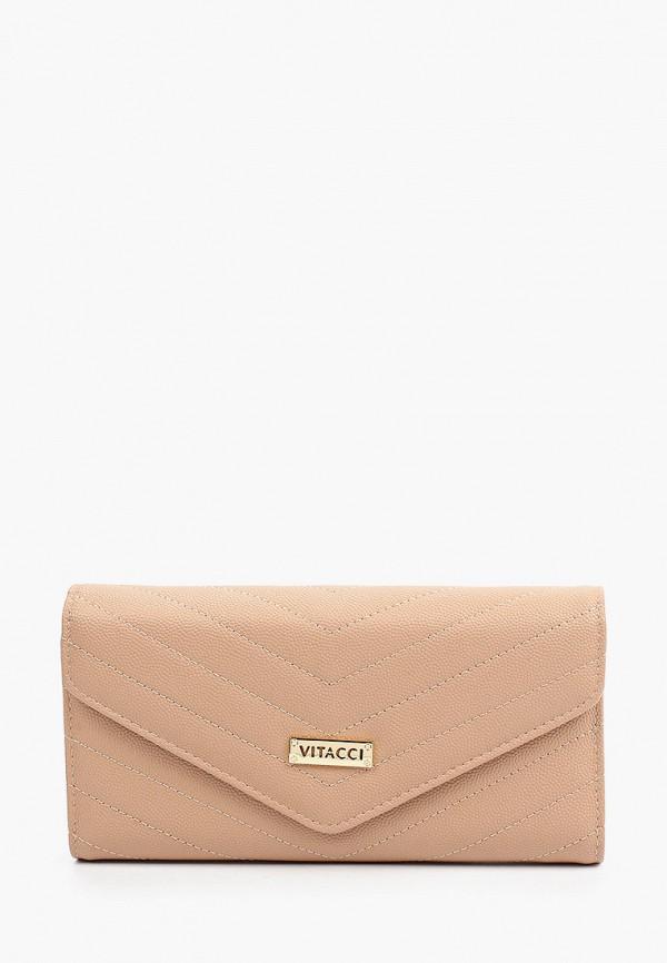 женский кошелёк vitacci, бежевый