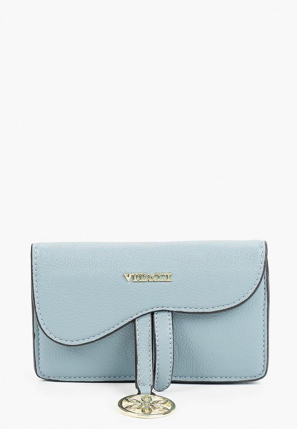женская поясные сумка vitacci, голубая