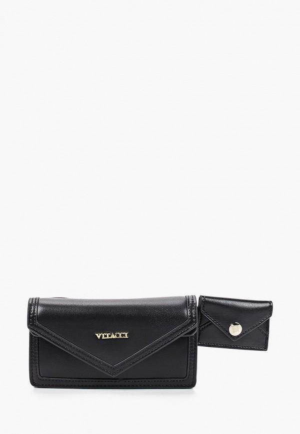 женская поясные сумка vitacci, черная