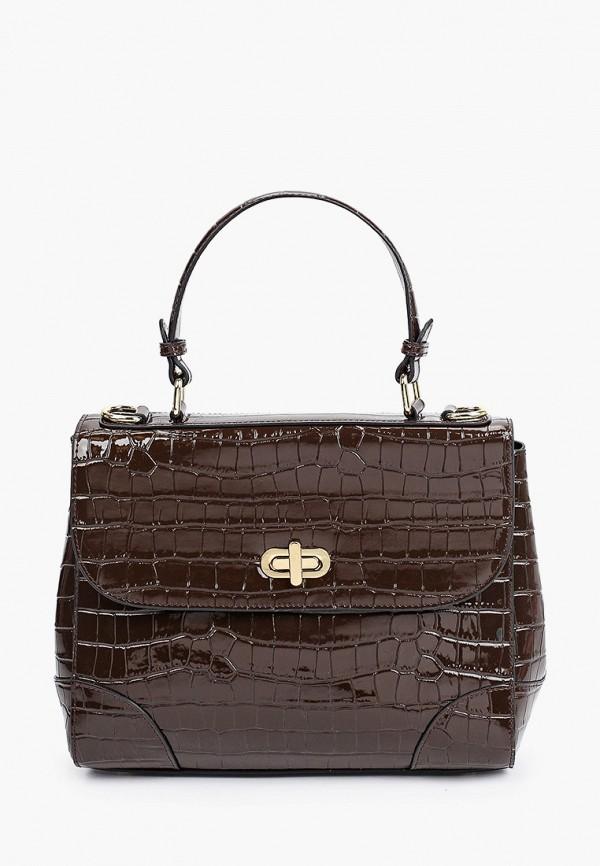 женская сумка с ручками vitacci, коричневая