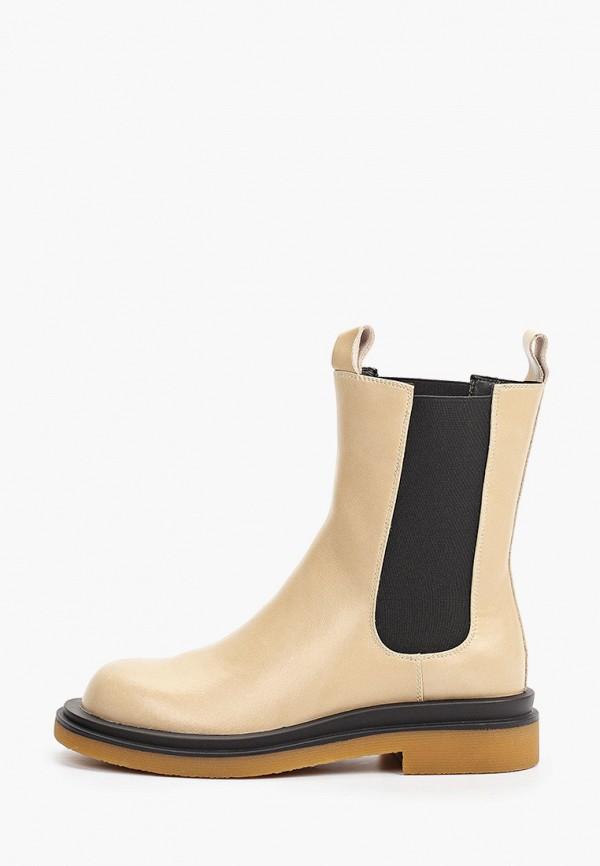 женские ботинки-челси thomas munz, бежевые