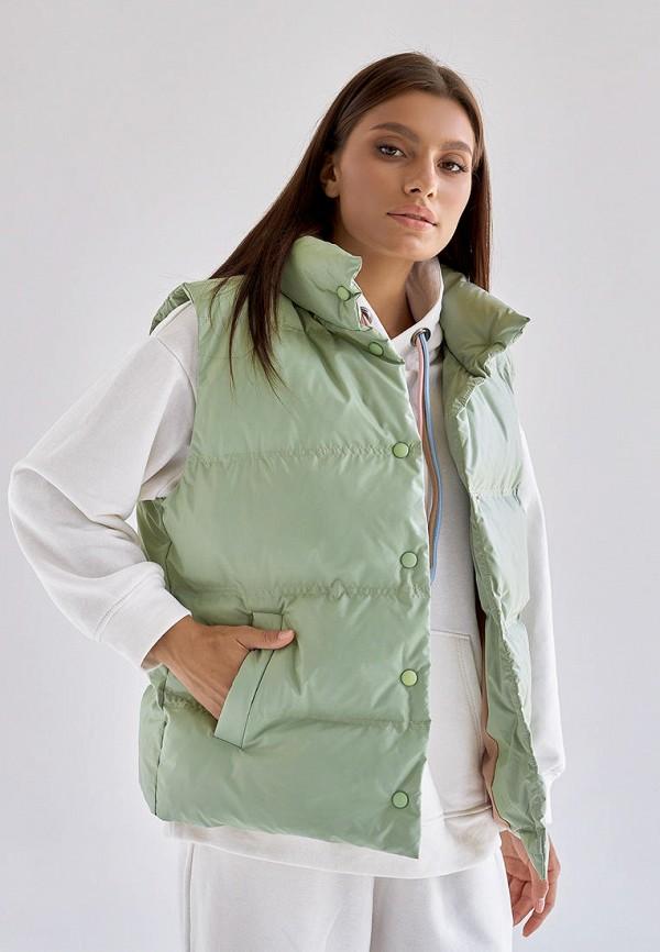 женский жилет disma, зеленый