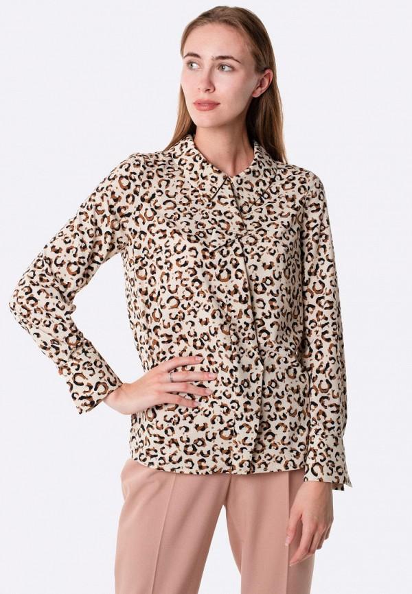 женская блузка cat orange, бежевая