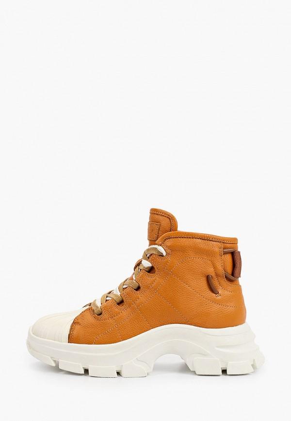 женские высокие ботинки mascotte, оранжевые