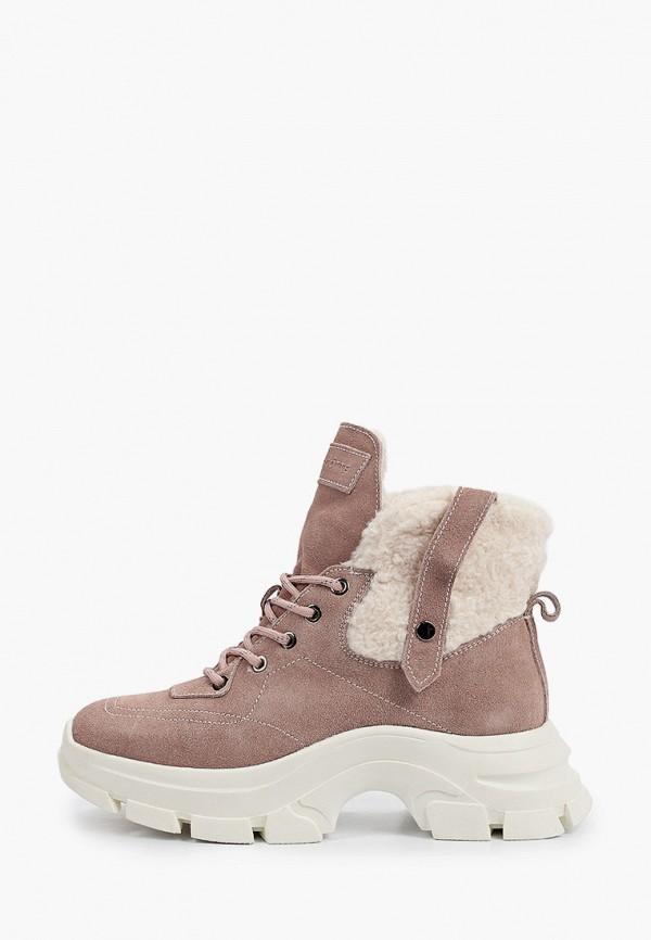 женские высокие ботинки mascotte, розовые