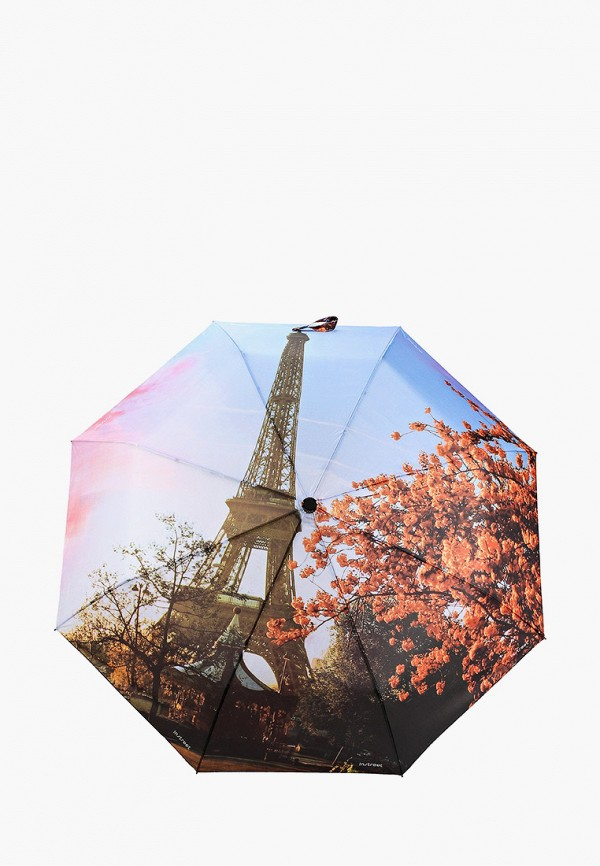 женский складные зонт instreet, разноцветный