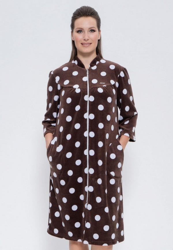 женский халат cleo, коричневый