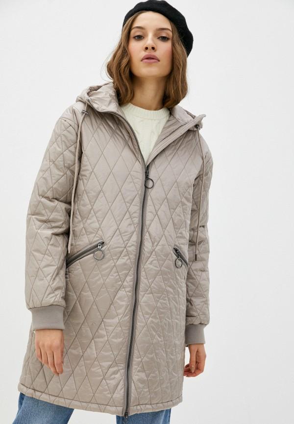 женская утепленные куртка baon, бежевая
