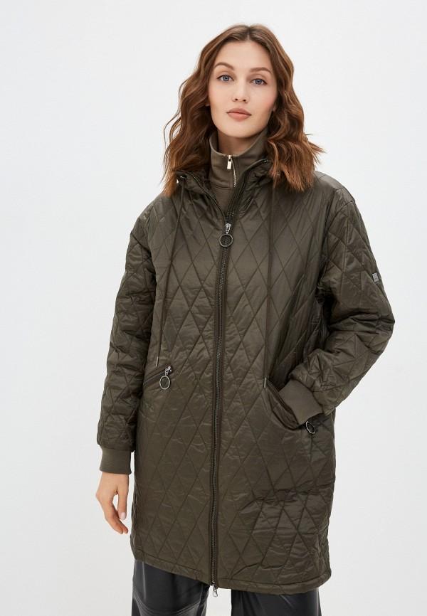 женская утепленные куртка baon, хаки