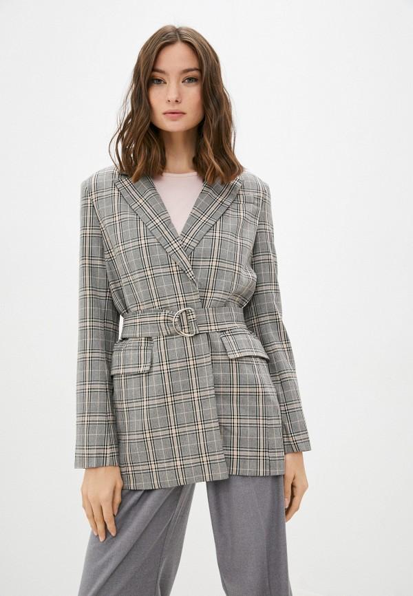 женский пиджак baon, серый