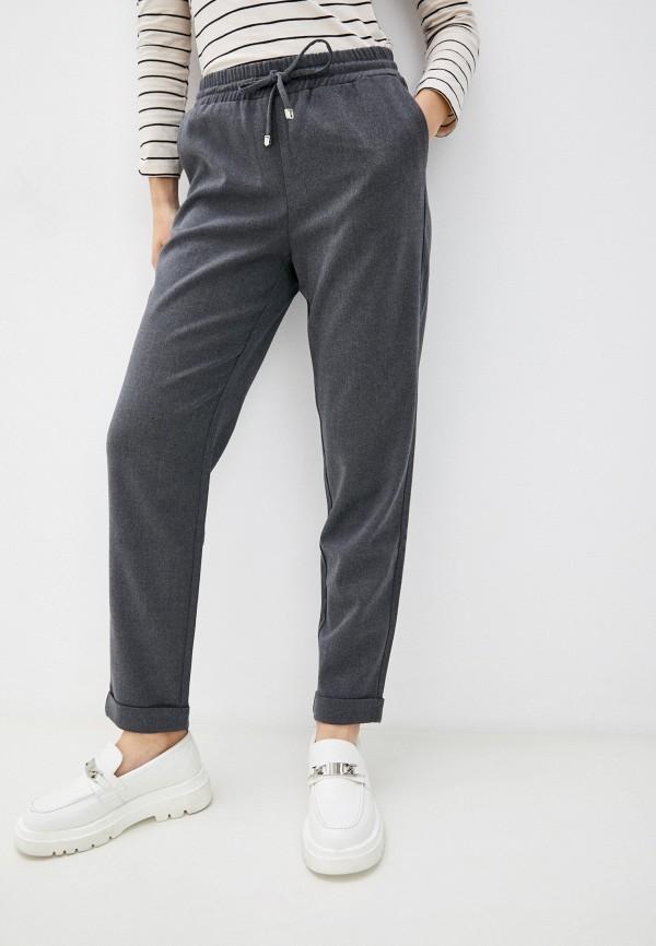 женские брюки джоггеры baon, серые