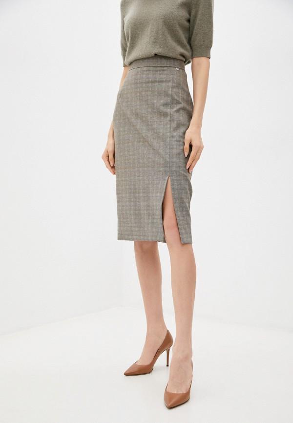 женская узкие юбка baon, бежевая