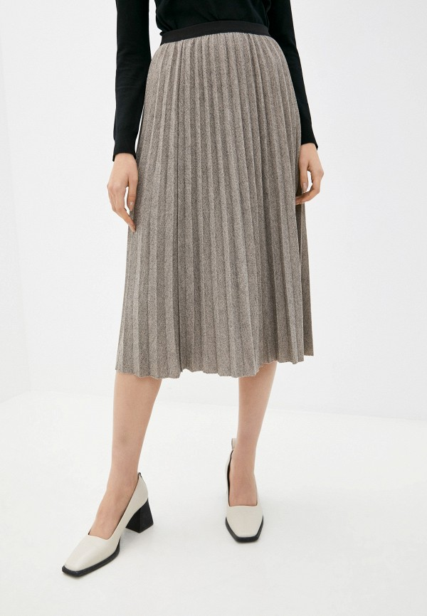 женская плиссированные юбка baon, бежевая