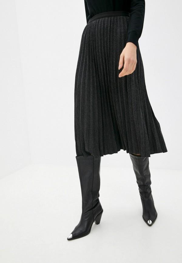 женская плиссированные юбка baon, серая