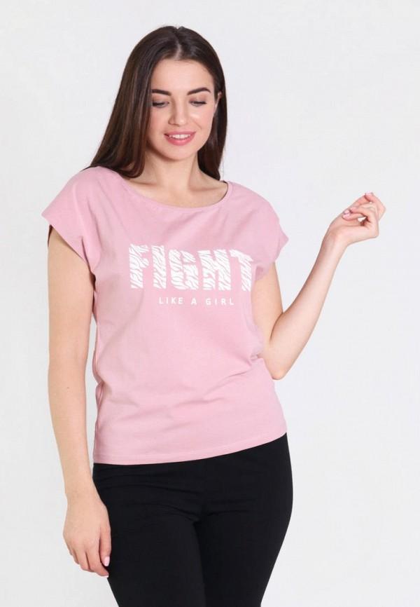 женская футболка n.el, розовая