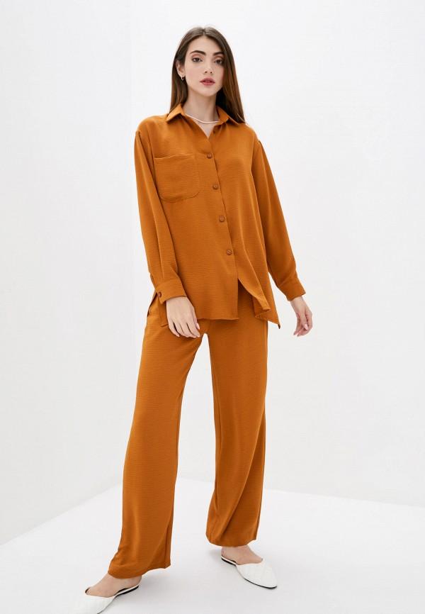 женский костюм lilove, оранжевый