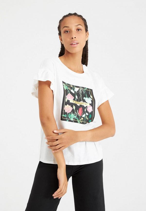 женская футболка terranova, белая