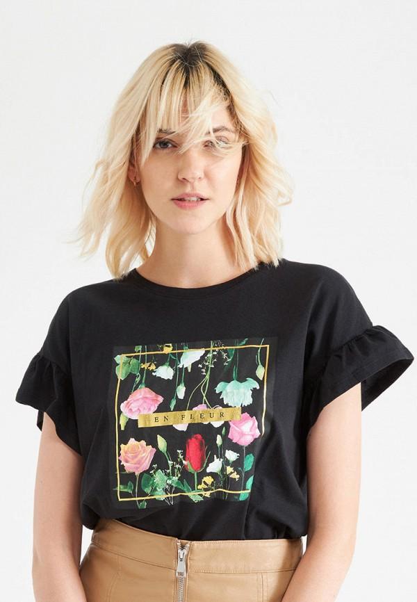 женская футболка terranova, черная