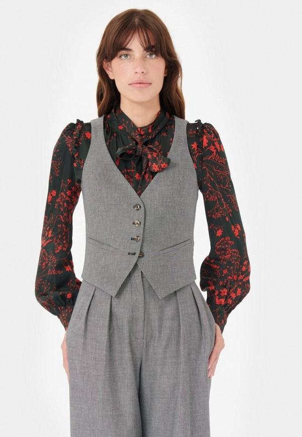 женский жилет tara jarmon, серый