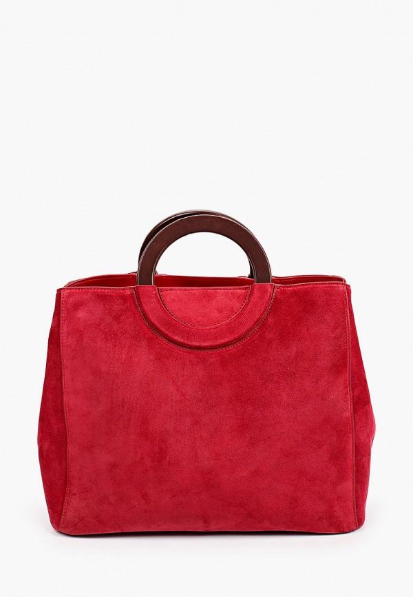 женская сумка с ручками mascotte, красная