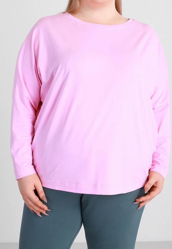 женский лонгслив promin, розовый
